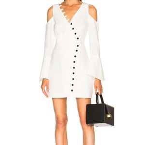 Alexis White Galen Dress With Buttons